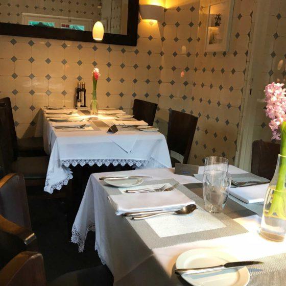 Innenansicht im Restaurant La Villa